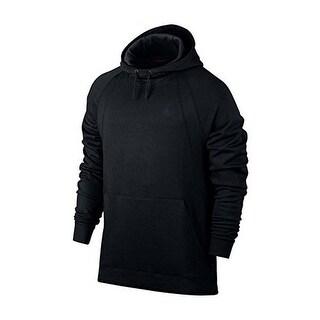 Nike Mens WINGS FLEECE PO, BLACK/BLACK, 2XL