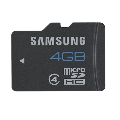 Samsung High Speed microSDHC Flash Memory Card with Adapter - Black