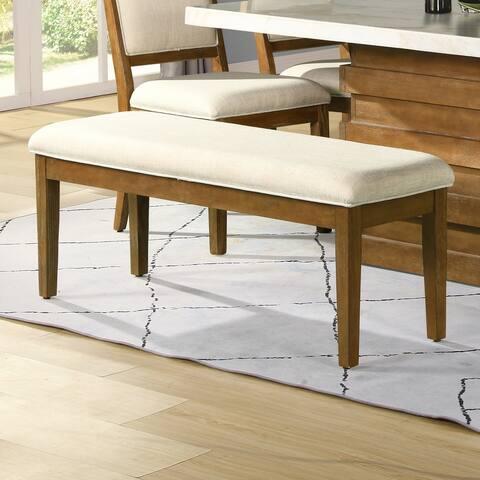 Strick & Bolton Pamela Linen Upholstery Dining Bench
