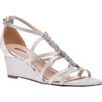 Pink Paradox London Women's Hadley Wedge Sandal Silver Synthetic