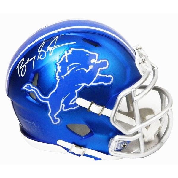 1d78b988c8a Shop Barry Sanders Detroit Lions Blaze Riddell Speed Mini Helmet ...