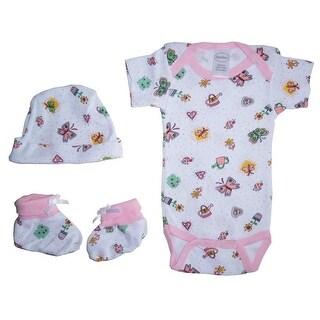 Bambini Girls Baby Gift Set (Print, Newborn)