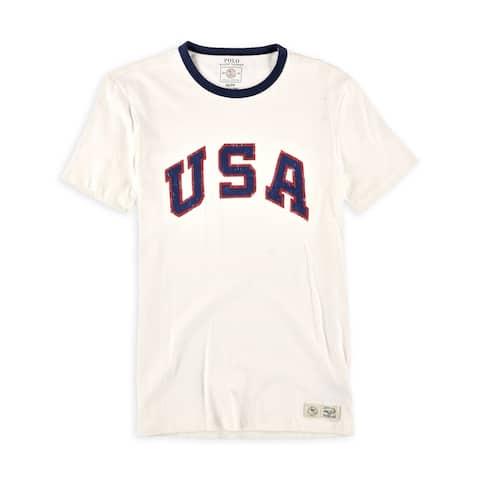 Ralph Lauren Mens Team Usa Graphic T-Shirt