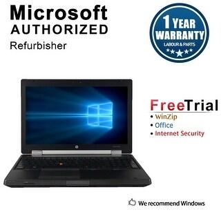 "Refurbished HP EliteBook 8560W 15.6"" Laptop Intel Core i5-2520M 2.5G 8G DDR3 500G DVDRW Win 7 Pro 64-bit 1 Year Warranty - Black"