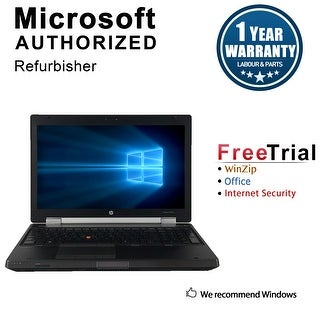 "Refurbished HP EliteBook 8560W 15.6"" Laptop Intel Core i7-2720QM 2.2G 8G DDR3 500G DVDRW Win 10 Pro 1 Year Warranty - Black"