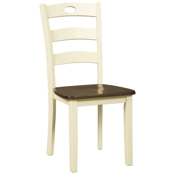 Ashley Furniture D335-01 Two-Tone Finish Dining Room Side Chair Set of 2