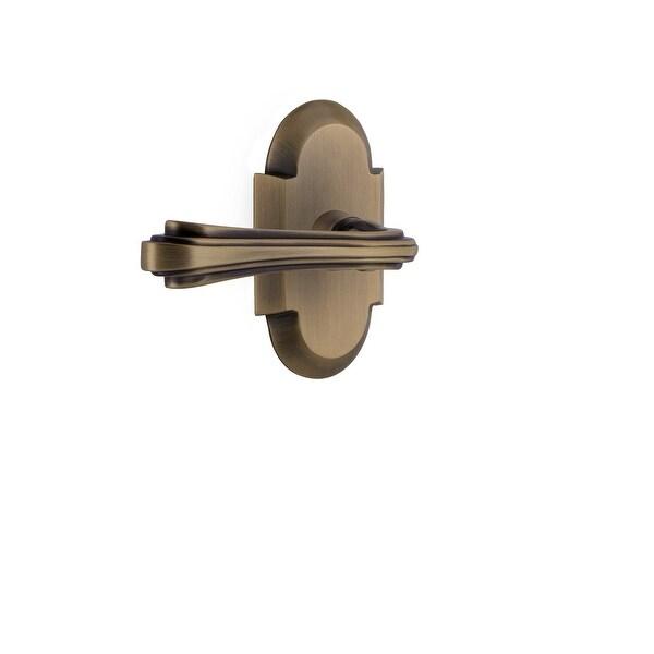 """Nostalgic Warehouse COTFLR_PRV_234_NK_RH Fleur Right Handed Privacy Door Lever Set with Cottage Rose for 2-3/4"""" Backset Doors"""