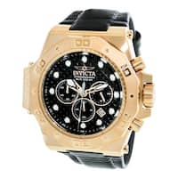 Invicta Men's Akula 23104 Rose-Gold Leather Quartz Diving Watch
