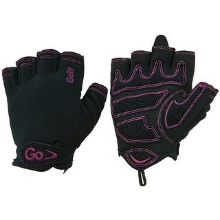 GoFit Women's Cross Training Weight Lifting Gloves - Black/Pink
