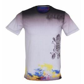 Robert Graham Tailored Fit Graphic Crew Neck Skull Voodoo Tee Shirt Medium - multi