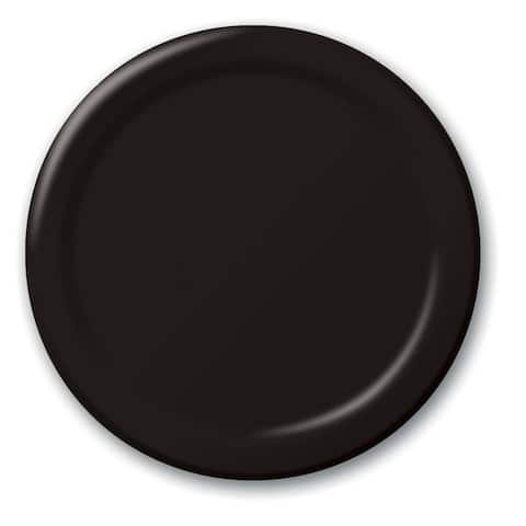 "Touch Of Color 24 Count 10 1/4"" Plates Black Velvet - Multi"