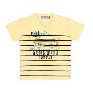 Pulla Bulla Baby Boys' Short Sleeve Striped T-Shirt (3 options available)