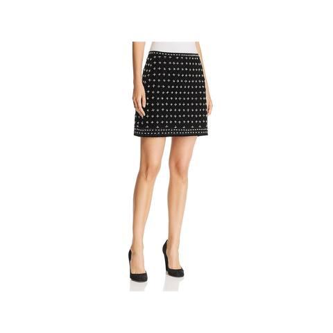 Kobi Halperin Womens Arlena Mini Skirt Velvet Embellished - 12