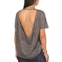 Alternative Womens Pony Melange Burnout T-Shirt w/ Back Strap - Ash Heather - Large