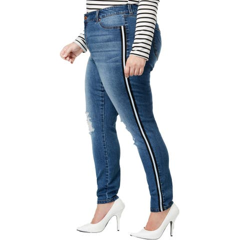 Celebrity Pink Womens Skinny Jeans Denim Mid-Rise