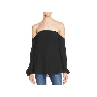 Theory Womens LAUREEMA Pullover Top Silk Off-The-Shoulder