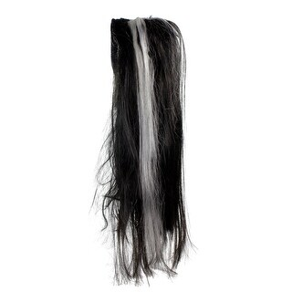 Black and Gray Long Women Adult Halloween Wig Costume Accessory - One Size - One Size