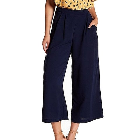 Elodie Navy Blue Women's Size Medium M Pleated Wide Leg Pants