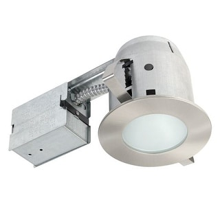 Globe Electric 90664 1 Light Recessed Lighting Kit Includes Trim, Housing / Can, Patented Clip System and Electrical Box