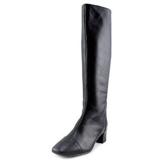 Nine West Anatolia Women  Round Toe Leather Black Knee High Boot
