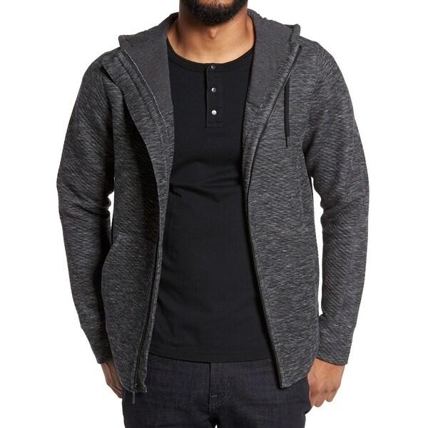 Good Man Brand Gray Mens Size Small S Textured Full Zip Sweater