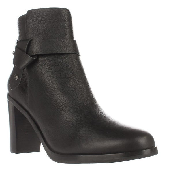 Via Spiga Farrah Harness Ankle Boots, Black