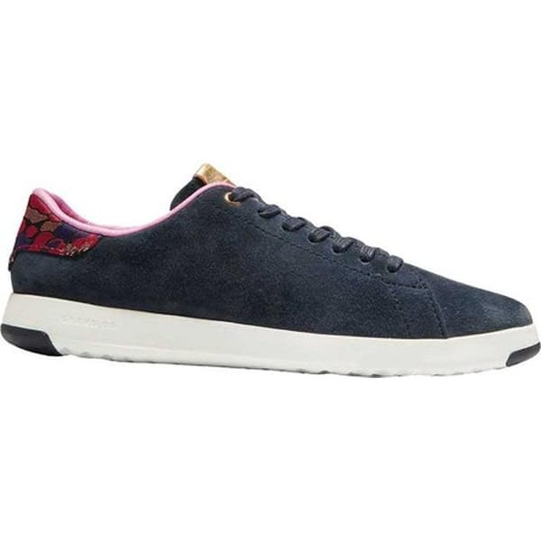 f7472c8c06ec Cole Haan Women's GrandPro Tennis Sneaker Blueberry Suede/Brocade/Optic  White
