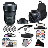 Tokina 16-28 F/2.8 AT-X FX F/ (for Canon) (Intl Model) Lens Accessory Kit - black