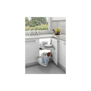 Rev-A-Shelf 5372-60-R 5370 Series 37 Inch Wide Right Swing Double Tier Blind Corner Pull Out Shelf