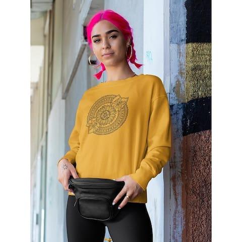 Flower Mandala Design . Sweatshirt Women's -Image by Shutterstock