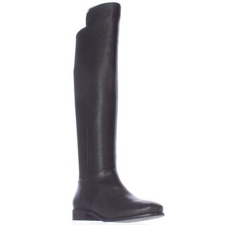 Cole Haan Dutchess Over The Knee Back Stretch Motorcycle Boots, Black