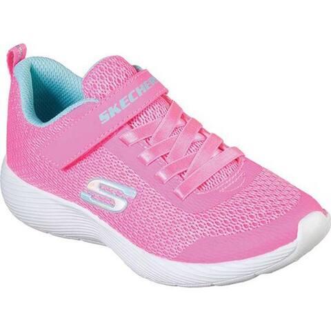 Skechers Girls' Dyna-Lite Sneaker Neon Pink/Blue