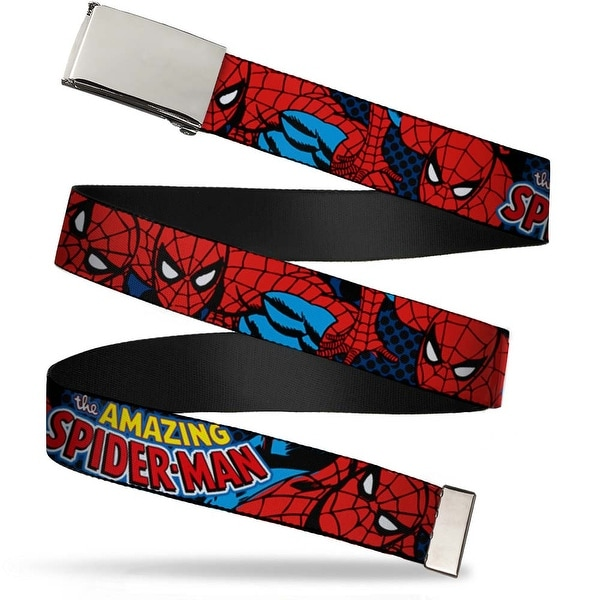Marvel Comics blank Chrome Buckle Amazing Spider Man Webbing Web Belt