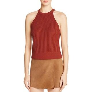 Theory Womens Waxson Prosecco Tank Top Sweater Halter Sleeveless - S