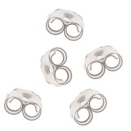 Sterling Silver Earring Backs (Earnuts) Medium 5mm (12)