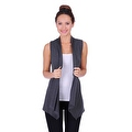 Simply Ravishing Women's Basic Sleeveless Open Cardigan (Size: Small-5X) - Thumbnail 5