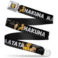 Simba2 Close Up Full Color Lion King Simba & Nala Hakuna Matata Webbing Seatbelt Belt