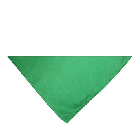 Pack of 7 Triangle Cotton Bandanas - Solid Colors and Polyester - 30 in by 19 in by 19 in - One Size