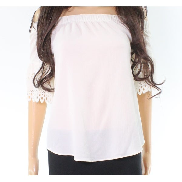 Moa Moa Cutout Textured Off-Shoulder Top Blouse