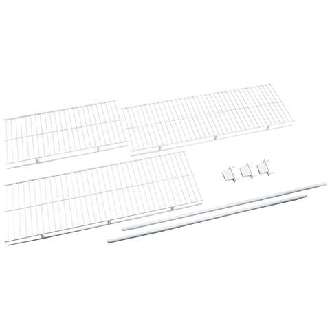 "Rubbermaid 3D4900 96"" Long Wire Shelf Kit - White"