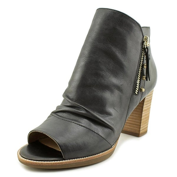 0707401a63a6 Shop Geox D New Callie A Women Peep-Toe Leather Black Bootie - Free ...