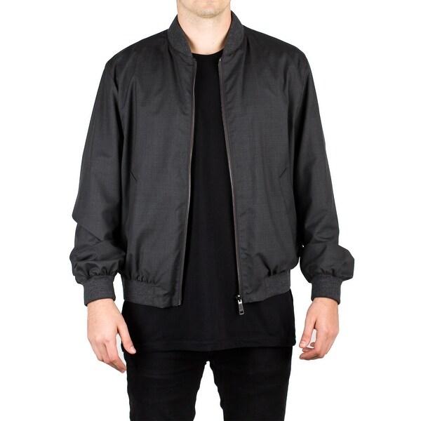929ac756 Prada Men's Virgin Wool Reversible Windbreaker Jacket Slate Grey