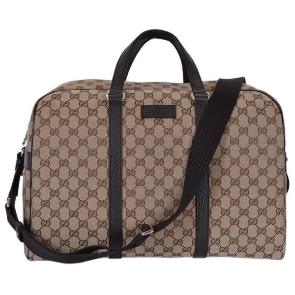 7e9c37c4c Gucci 449167 Beige Canvas GG Guccissima Large Boston Travel Duffle Bag -  15.75