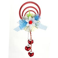 Unique Bargains Plastic Rings Metal Bell Pendant Burgundy for Indoor Xmas Tree Dangling Ornament