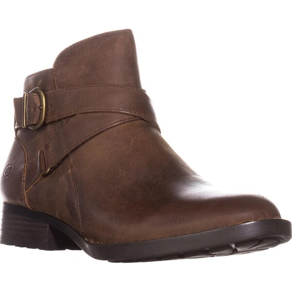 Born Chaval Flat Casual Ankle Boots, Brown