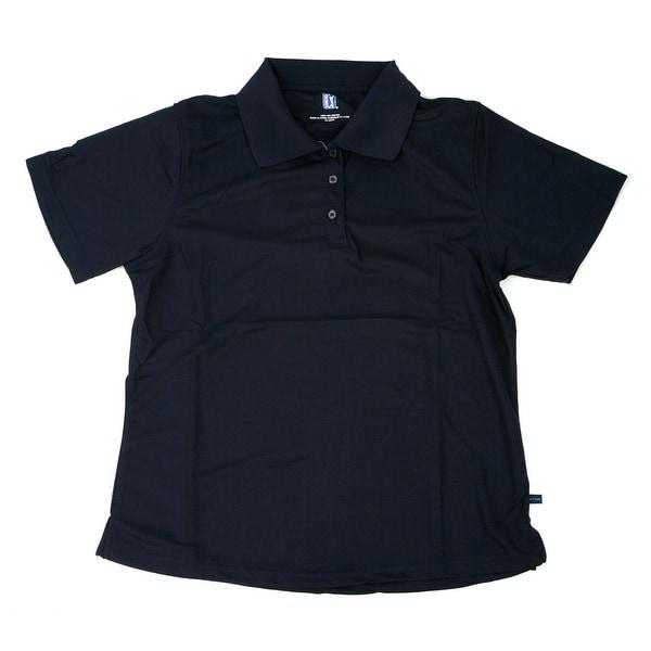 PGA TOUR Men's Polo Shirt - Navy Solid - Small