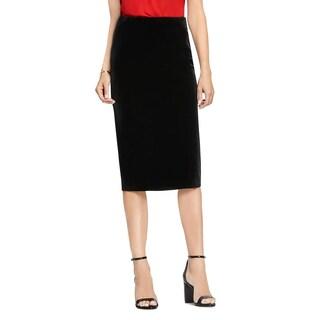 Vince Camuto Womens Pencil Skirt Velvet Midi