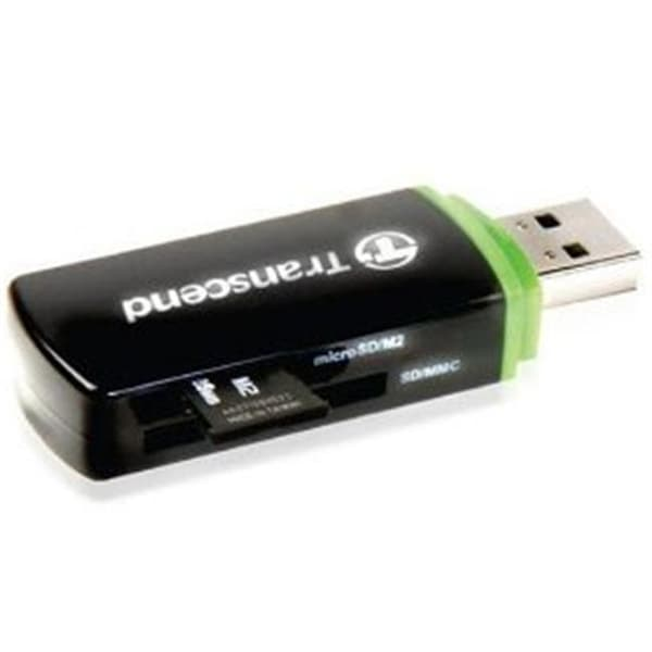 Transcend P5 9-In-1 USB 2.0 Compact Flash Memory Card Reader - Black