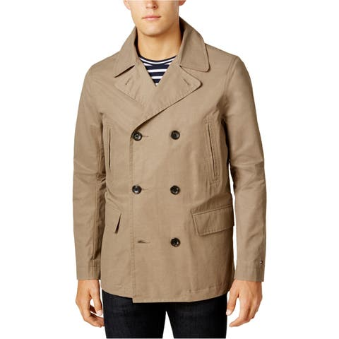 Tommy Hilfiger Mens Double-Breasted Raincoat