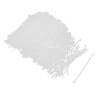 Unique Bargains 1000 Pcs White Self Locking Zip Ties Wraps Straps 3mm x 100mm for Wire Cable
